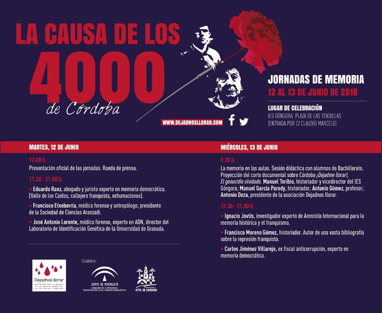 Jornadas de Memoria –  La Causa de los 4000