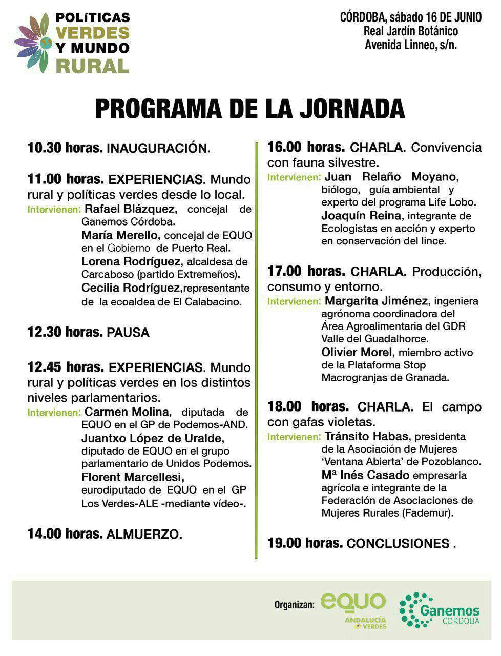 Jornadas Políticas Verdes y Mundo Rural