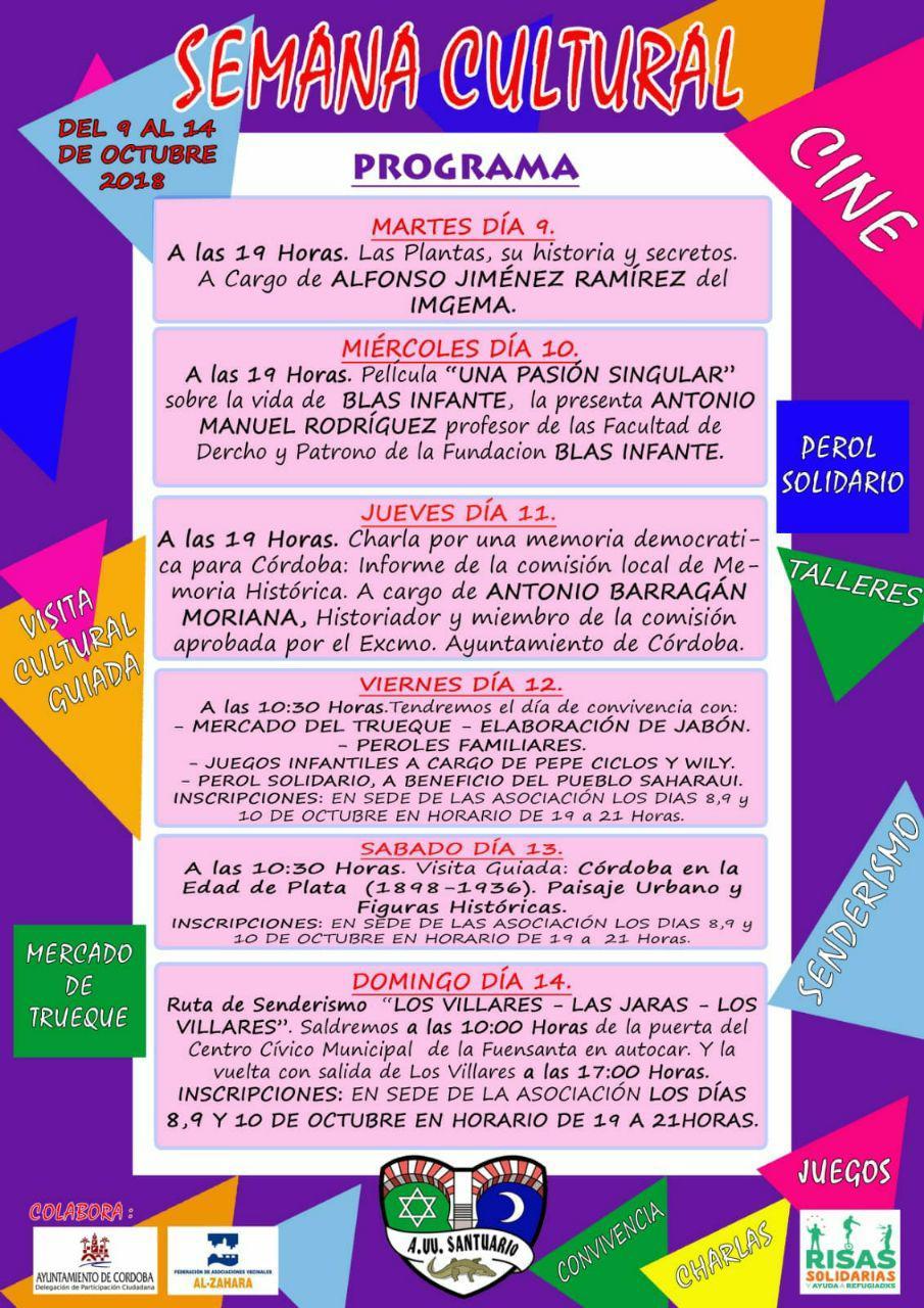 Semana Cultural A.VV. Santuario