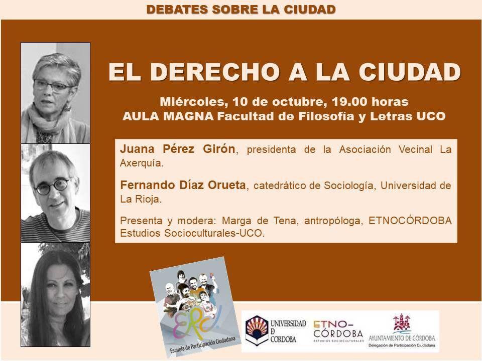 Debates sobre la ciudad: El derecho a la ciudad